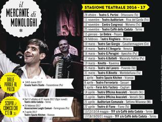 """""""Il Mercante di Monologhi"""" stagione teatrale 2016/2017"""