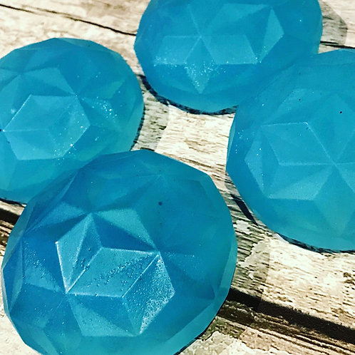 Soap & Conditioner Mould - Silicone Six Cavity Crystal