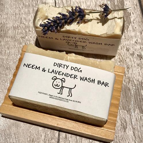 Neem & Lavender Essential Oil Dog Shampoo Bar