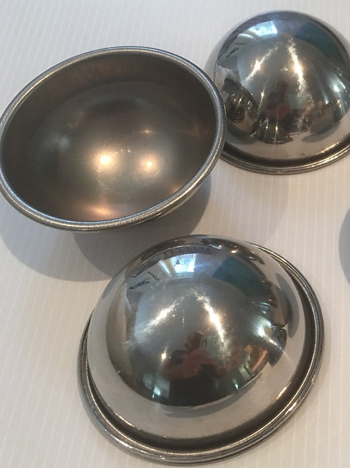 Hand Moulds - 6cm Stainless Steel  - WITH RIM
