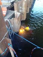 Wycinanie ścianki szczelnej pryfrach mostu w Wągrowcu