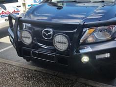 Mazda Ute fitting: Winch compatible steel bar and rear bar. Technician: Dillion