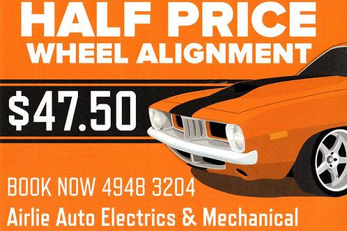 Wheel Alignment Half Price