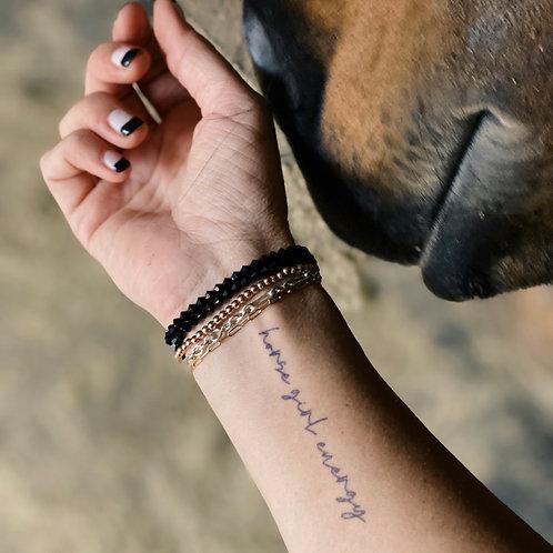 'HORSE GIRL ENERGY™ INK' Temporary Tattoo