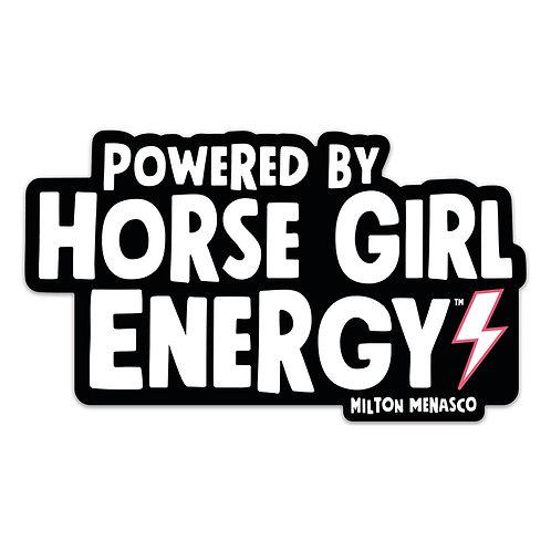 'HORSE GIRL ENERGY™' Bumper Sticker
