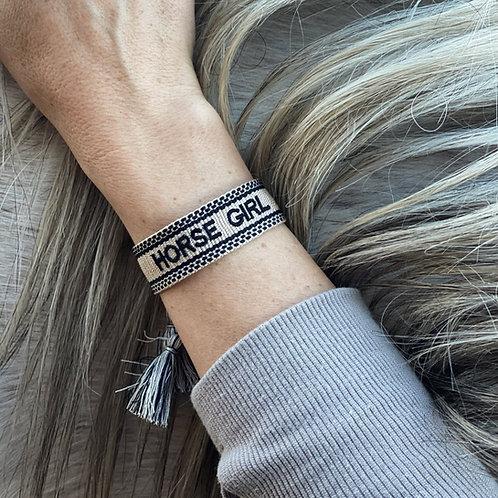 'HORSE GIRL' Woven Bracelet