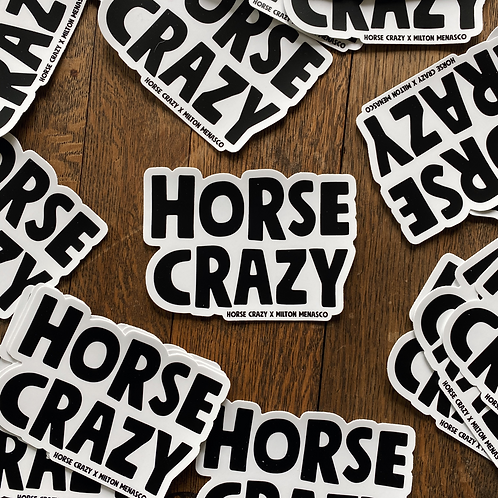 'HORSE CRAZY' Bumper Sticker