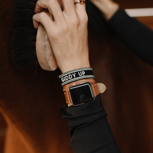 'GIDDY UP' Woven Bracelet