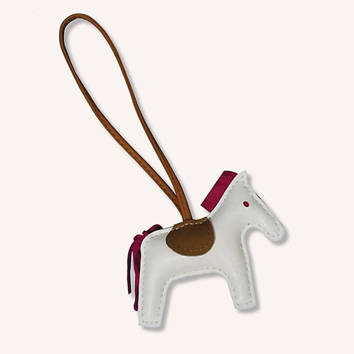 'ROSE GRAY ITTY BITTY PONY' Leather Charm