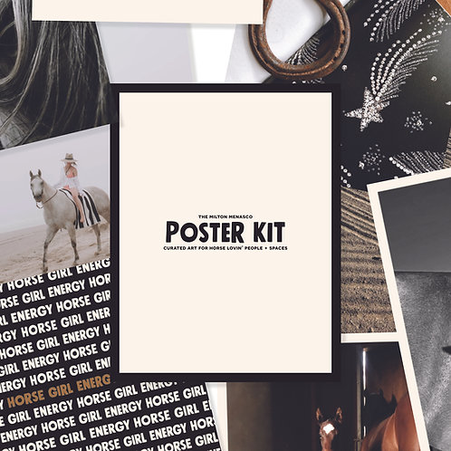 'DIGITAL POSTER KIT' Curated Art