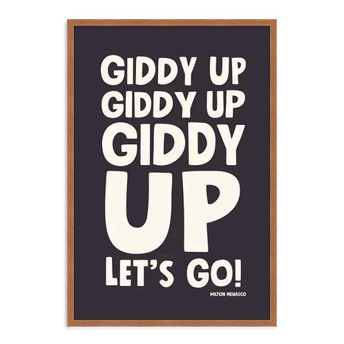 'GIDDY UP, LET'S GO!' Digital Art Print