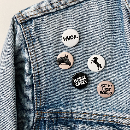 'HORSE CRAZY' Button Pack