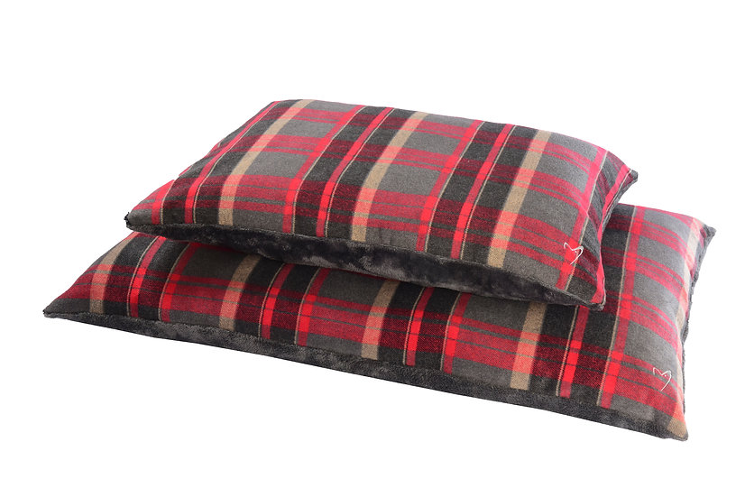 Camden Comfy Cushion Red Check