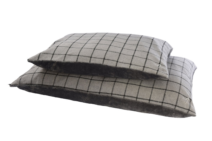 Camden Comfy Cushion COVER ONLY Grey Check