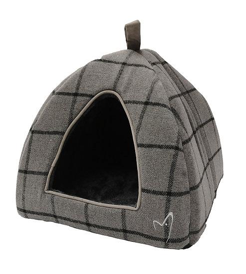 Camden Pyramid Bed (40x40x40cm) Grey Check