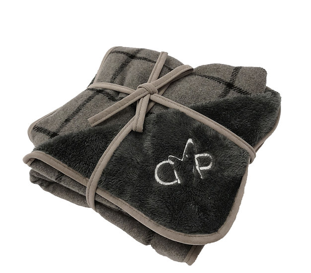 Camden Blanket Grey Check