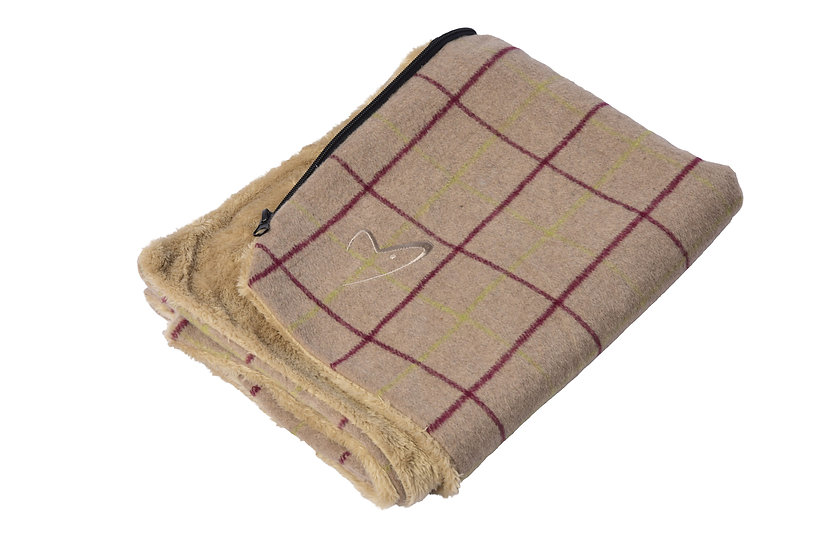 Premium Comfy Cushion COVER ONLY Beige Check