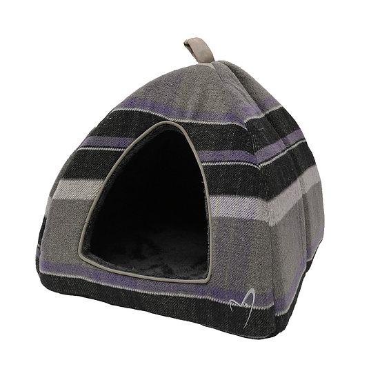 Camden Pyramid Bed (40x40x40cm) Purple Check
