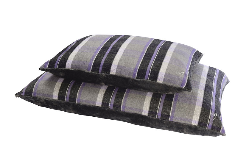 Camden Comfy Cushion Purple Check