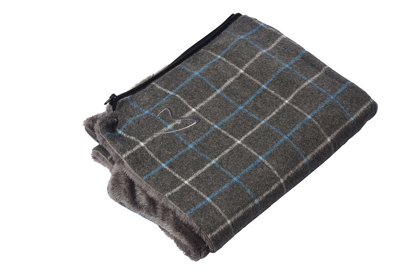 Premium Comfy Cushion COVER ONLY Grey Check