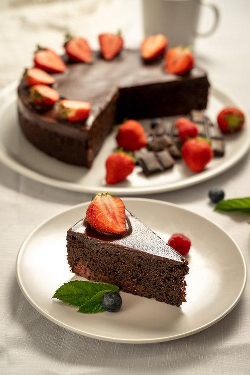 Brownie s lesným ovocím