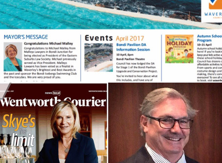 Michael Malley features in the Mayors Message in this week's Wentworth Courier