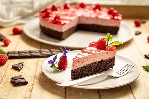 Brownie s malinovým krémom
