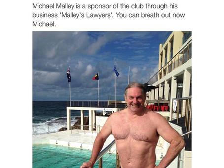 Malleys Lawyers proud sponsors of Bondi Icebergs Swimming Club