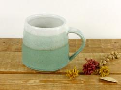 Jade and White Mug