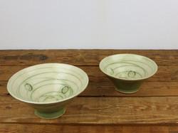Warm Green 'Button & Thread' dishes