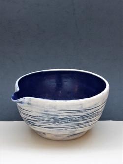 Rebecca J Woods Ceramics Blue Pouring bo