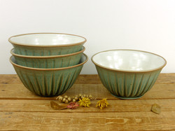 Jade Fluted Bowls