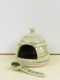 Mishima Soft Green Salt Pig & Spoon