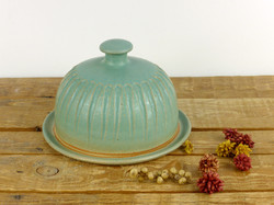 Jade Fluted Butter Dish