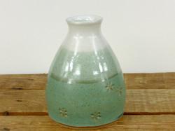 Jade and White Bud Vase