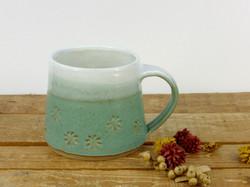 Jade Flower Imprint Mug