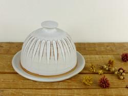 Dolomite White Butter Dish
