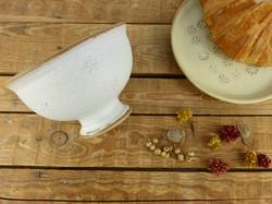 White Cafe au Lait bowl