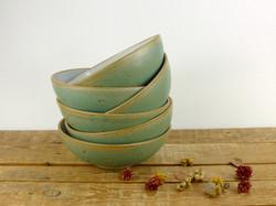 Jade Flower Imprint Bowls