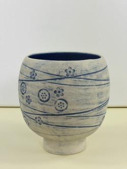 Mishima Blue Vase