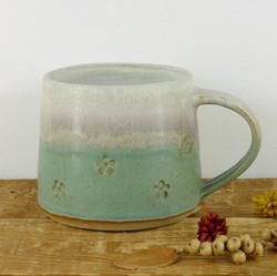 Flower imprint Mug