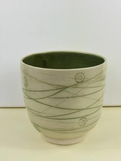 Mishima Warm Green Vase