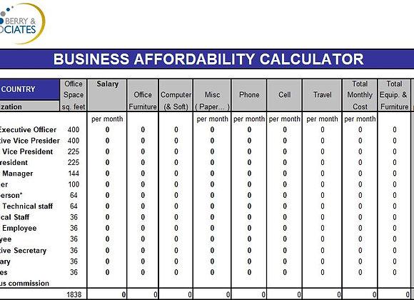Business Affordability Calculator