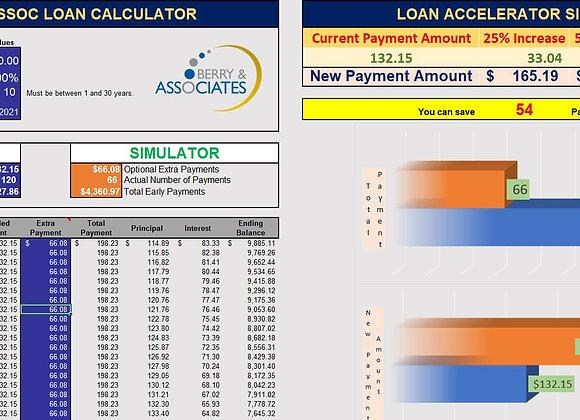 Loan Calculator W/ Accelerator Simulator