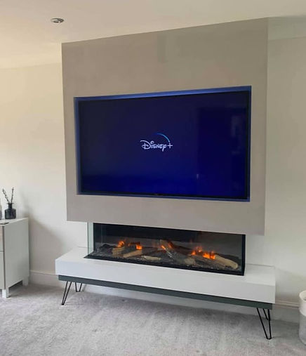 TV on false chimney