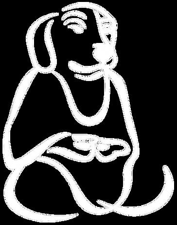 Naked Dog Meditating Trans.png