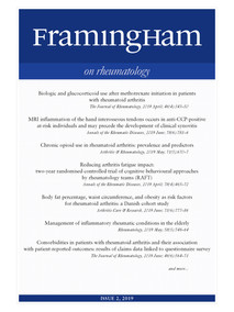 Framingham on Rheumatology 2-2019