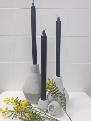 Concrete Look Candle Holders