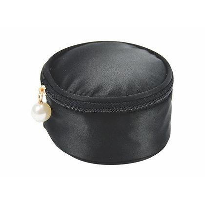 Jewellery Pouch Black Satin
