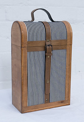 Double Stripped Wine Case